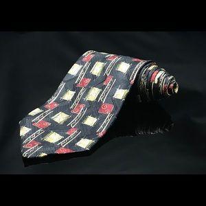 Robert Talbott Best Studio Silk Red Yellow Tie